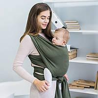 Слинг-шарф трикотажный Love & Carry — ОЛИВА ХАКИ бесплатная доставка новой почтой