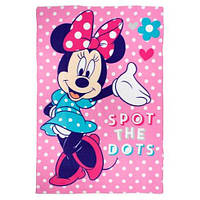 Детский флисовый плед Disney Минни Маус 100х150 для девочки