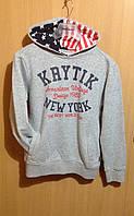 Кофта для хлопчика KRYTIK з каптуром сіра 158