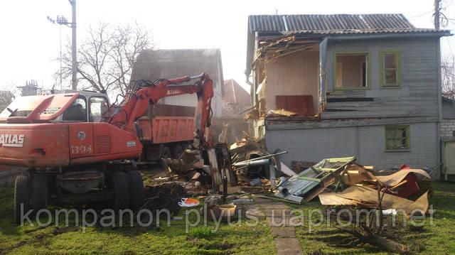 снос строений, построек, дачных деревянных домиков и кирпичных домов