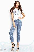 Трендовые укороченные брюки Gepur 21547