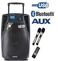 Активная колонка 15-02PRO с микрофонами 300W (USB/Bluetooth)
