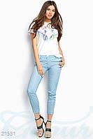 Трендовые укороченные брюки Gepur 21551