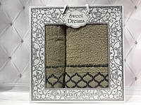 Подарочный набор полотенец Sweet Dreams (баня+лицо) № 32521