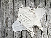 Универсальный махровый спальник, молочный, 0-6 мес., фото 1