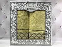 Подарочный набор полотенец Sweet Dreams (баня+лицо) № 32524