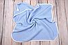 Вязанный конверт-плед с кисточкой, голубой