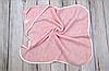 Вязанный конверт-плед с кисточкой, розовый