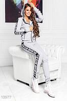 Брендовый спортивный костюм на молнии Gepur 13577