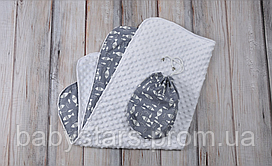 Плюшевый плед Minky+ сумочка, рыбки