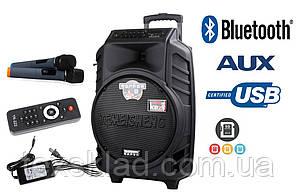 Активная колонка SL15-08 / 300W (USB/Bluetooth/2 радиомикрофона)