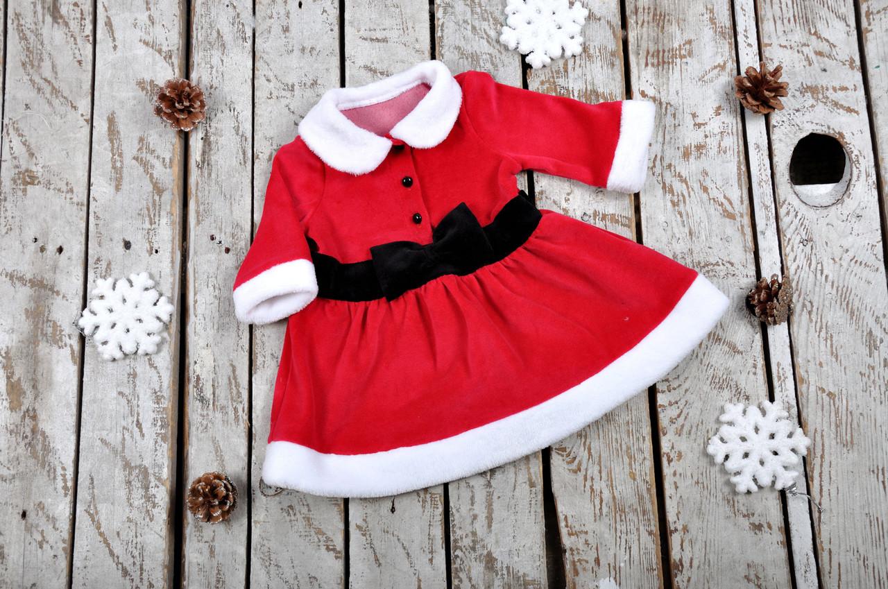 Новогоднее велюровое платье, 62-86