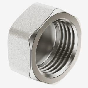 Заглушка латунная никелированная с внутренней резьбой (пробка) 1 ду 25
