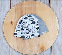 Набор трикотажных шапок, Облака, 3 размера, 42-54 см