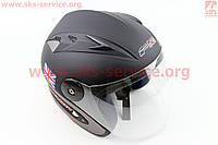 Шлем открытый 218 S - ЧЕРНЫЙ матовый, фото 1