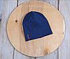 Шапочка с пуговками, синяя, 3 размера, 42-54 см