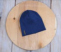 Шапочка с пуговками, синяя, 3 размера, 42-54 см, фото 1