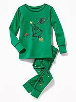 Детская пижама с новогодним принтом Олд Неви 91,107 см (2Т,4Т)