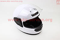 Шлем закрытый HF-101 S- БЕЛЫЙ матовый