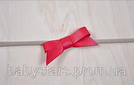Повязка One Size, красная, с кожаным бантиком