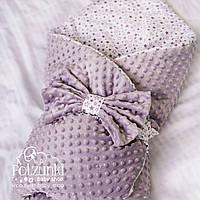 """Конверт-одеяло для новорожденного с плюшем  """"Звёздочки"""""""