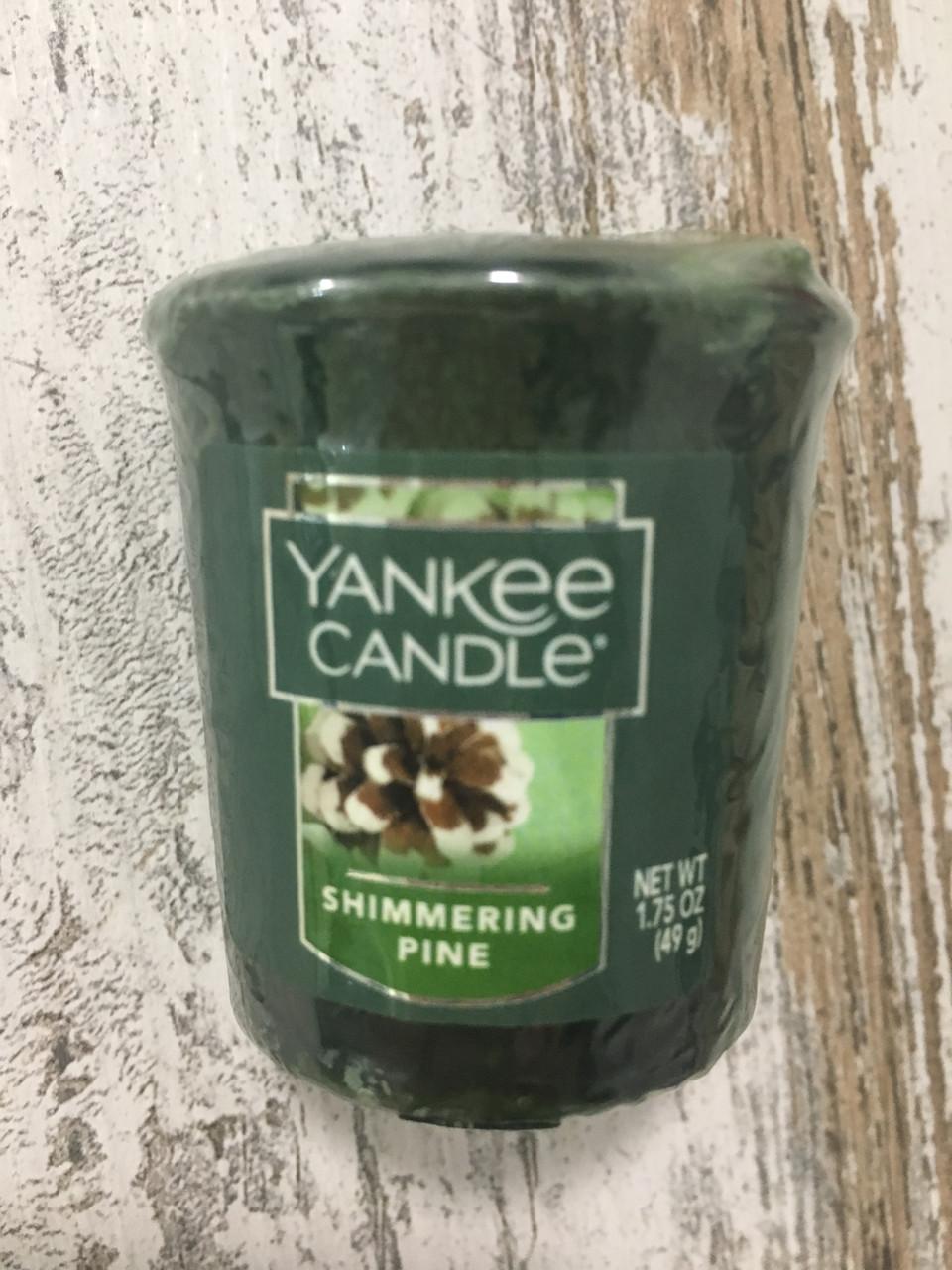 """Свеча ароматическая """"Шишки в снегу"""" Yankee Candle"""