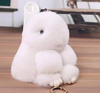 Брелок на сумку или рюкзак заяц Белый