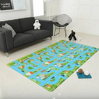 Игровой коврик Alzipmat City Road, 240х140х1,2 см