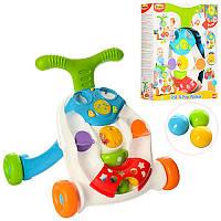 Игровой центр Каталка - Ходунки WinFun, трещотка, музыка, свет, развивающая музыкальная игрушка,0829-NL