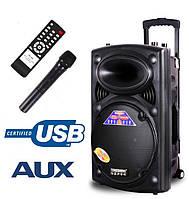 Портативная активная колонка DP-297L (USB/TF Card/Радиомикрофон/AUX)