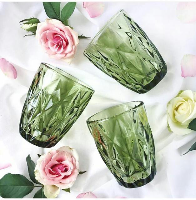 Цветные-винтажные стаканы