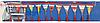 Гирлянды-флажки для грузового автомобиля, 12 шт, торговой марки AllRide, артикул: 8711252337739