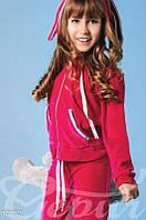 Малиновый велюровый костюм для подростка Gepur 10732