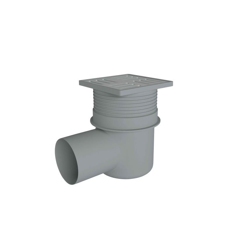 Трап горизонтальный, регулируемый выпуск 110 мм с нержавеющей решеткой 15x15 см ANI Plast (TA1612)