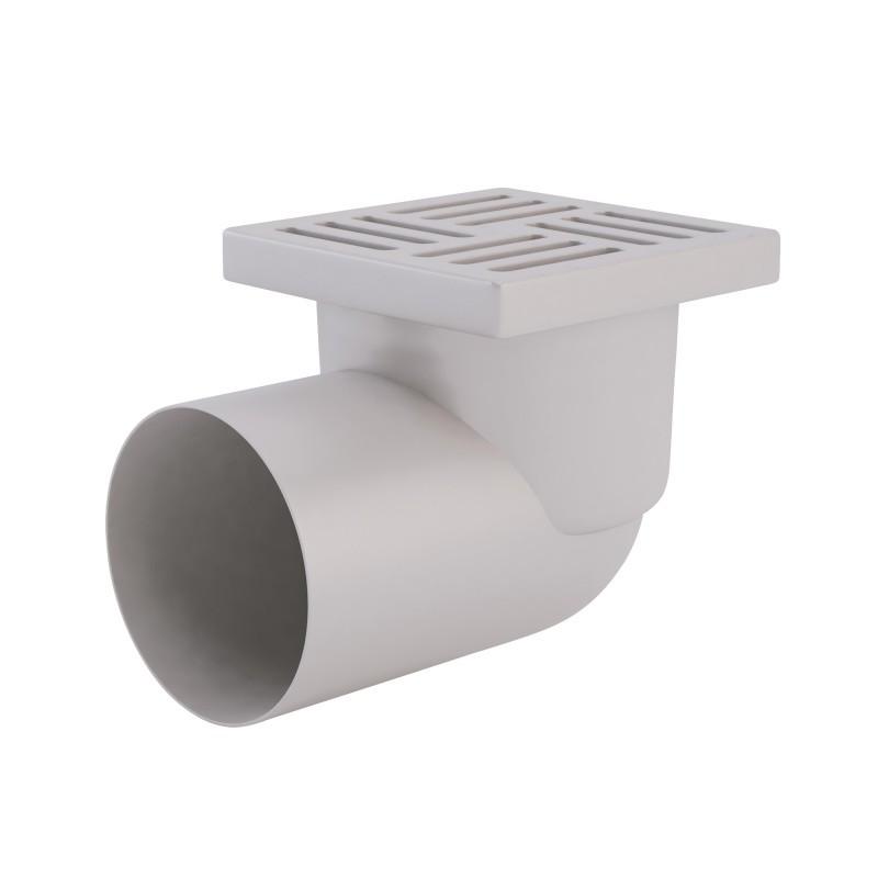 Трап горизонтальный, выпуск 110 мм с пластиковой решеткой 15x15 см ANI Plast (TA1110)