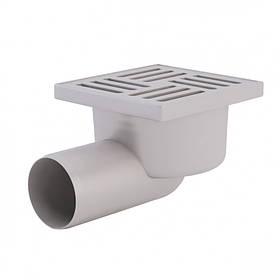 Трап гор., выпуск 50 мм с пласт. решеткой 10x10 см ANI Plast (TA5104)