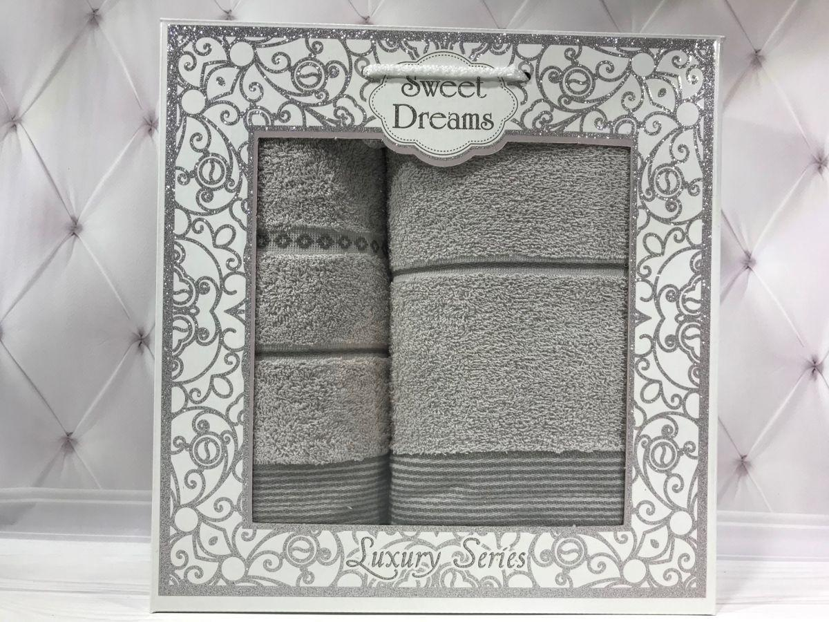 Подарочный набор полотенец Sweet Dreams (баня+лицо) № 32548