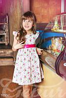 Платье для девочки в цветочек Gepur 10957