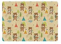 Игровой коврик Alzipmat INDIAN BEAR, 240х140х1,2 см