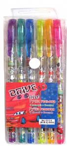 Набор ручек гелевых, 6 цветов с блеском и запахом для мальчиков