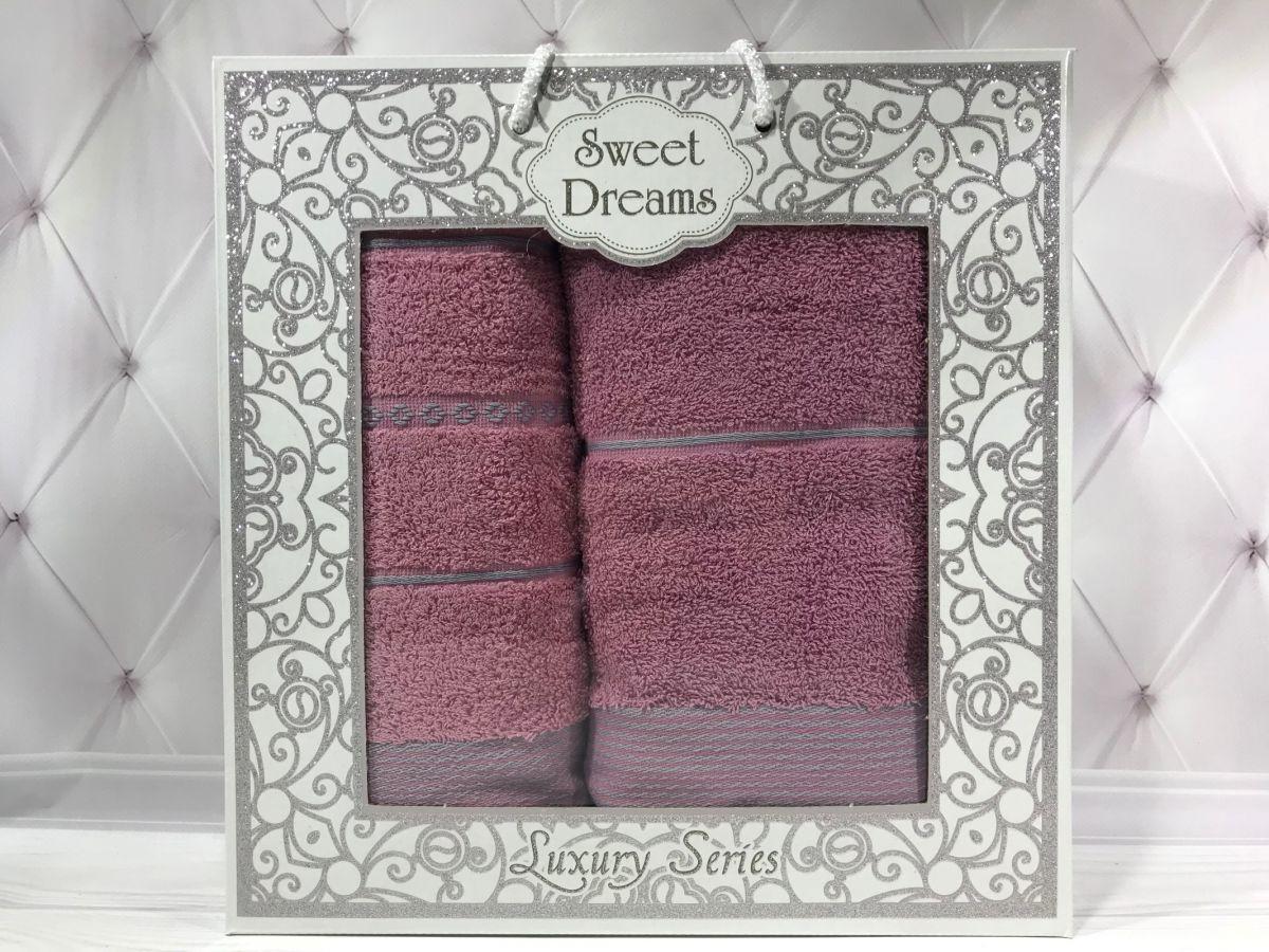 Подарочный набор полотенец Sweet Dreams (баня+лицо) № 32552
