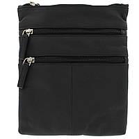 Кожаная сумка через плечо Visconti 18606 black