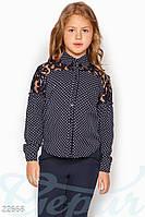 Контрастная детская блузка Gepur 22668