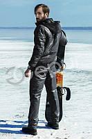 Мужской костюм стеганный черного цвета Gepur 8499