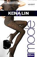 Фантазийные капроновые колготки 30 den Kenalin 85017. В упаковке 6 штук, фото 1