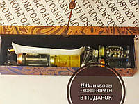 Подарочный набор с электро-вибро-массажером для глаз с золотым напылением + 4 концентрата ZENA