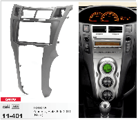 Переходная рамка CARAV 11-401 2 DIN (Toyota Yaris,Vitz, Platz)
