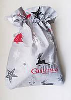Новогодний Рождественский мешочек 46*40 для подарков подарочная упаковка новогодняя, фото 1