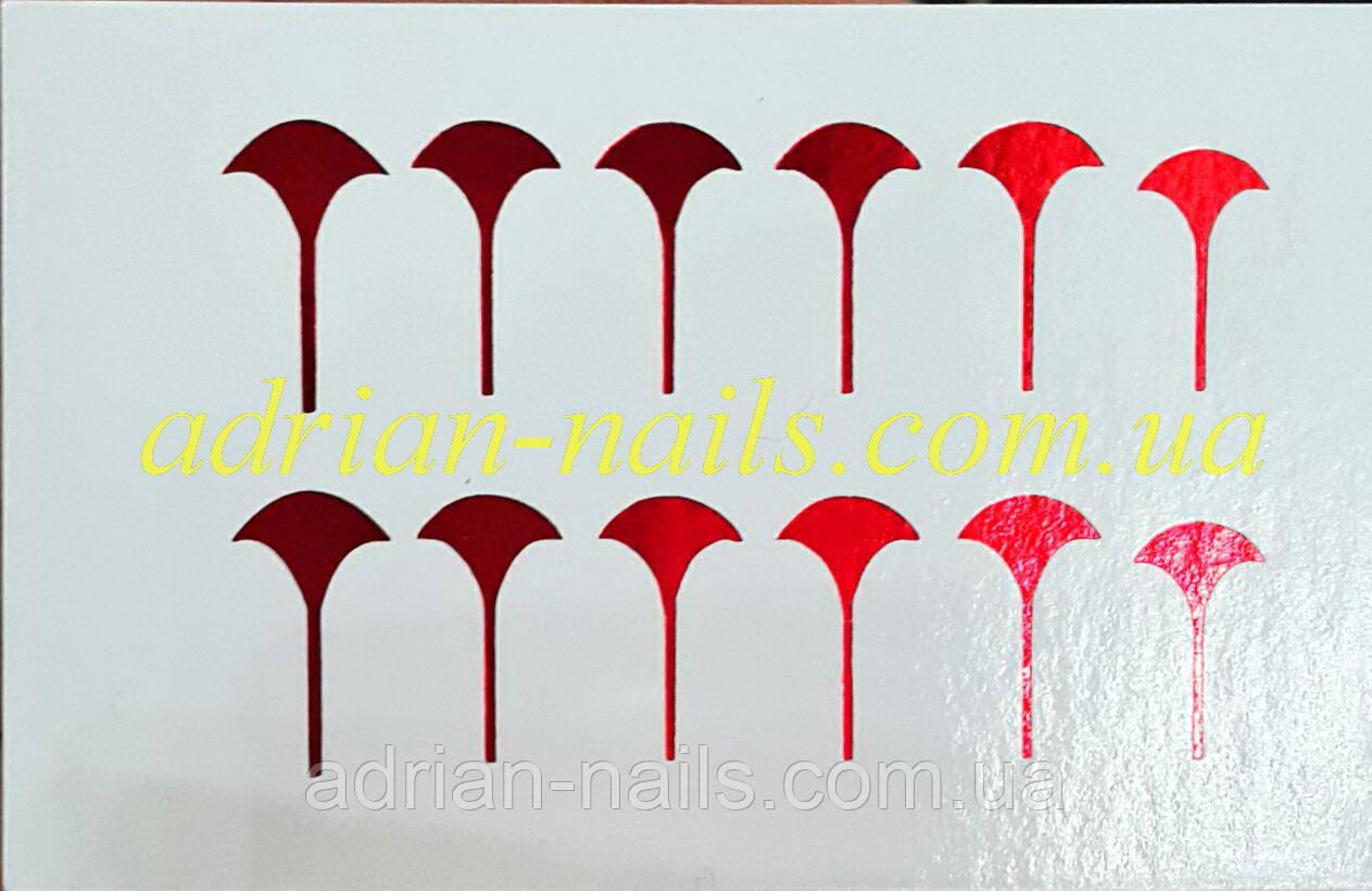 Фольгированный слайдер дизайн №29 - красная