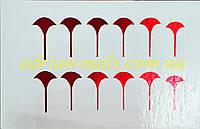 Фольгированный слайдер дизайн №29 - красная, фото 1